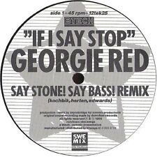 "Georgie Red If I say stop, then stop! (Sex/Dub/No York Voxmix, 1984.. [Maxi 12""]"