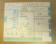 1973 Led Zeppelin Los Angeles Concert Ticket Stub Robert Plant Jimmy Page