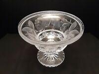 Antique American Brilliant Period Intaglio Cut Glass Compote