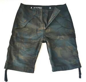 G-Star Rovic DC Loose 1/2 Cotton Short W32 Camouflage Asfalt/Black -New-