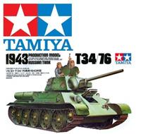 Tamiya 35059 T34/76 1943 Production Model Russian Tank 1:35 Scale Kit