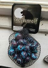 RARE Retired Discontinued Mega Marbles Werewolf mesh bag