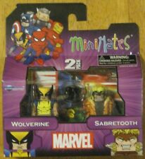 Best of Marvel Minimates X-Men 2 pack Wolverine and Sabretooth Action Figure