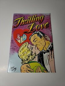 THRILLING LOVE 3-D (zone 13) ROBERT WILLIAMS cover  w/glasses FRAZETTA 1989
