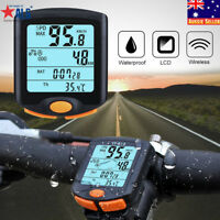 Cycling Bike Bicycle LCD Cycle Computer Odometer Waterproof Wireless Speedometer