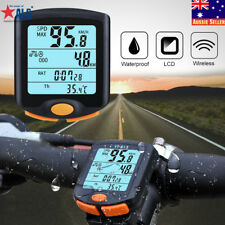 Cycling Bike Bicycle LCD Cycle Computer Odometer Wireless Speedometer Waterproof