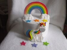 Cake Toppers Edible Rainbow and Unicorn Set