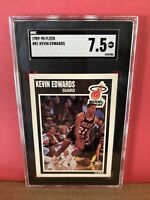1989-90 Fleer Basketball Kevin Edwards #81 SGC 7.5 NM Graded Card Miami Heat RC