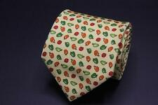 NWOT HOLLAND & SHERRY Silk Tie. Yellow w Red Green & Orange Bell Peppers.