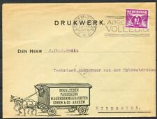 GEILL.DRUKWERK(PAARD EN WAGEN)MET 1½ CT.DUIF OP COUVERT ARNHEM 28.III.1929 Zv462