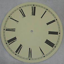 "New 11-3/16"" Ivory Metal Roman Clock Dial (C-576)"