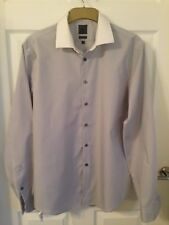 """Men's Grey Checked Long Sleeved Calvin Klein Shirt - Size 42 16.5"""""""