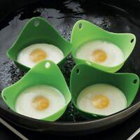 Silicone Egg Poacher Cook Poach Pods Egg Mold Bowl Shape Egg Rings Silicone