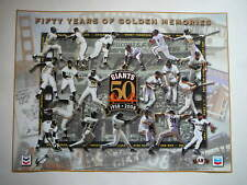 San Francisco SF Giants 50 Years Of Golden Memories 1958-2008 Poster