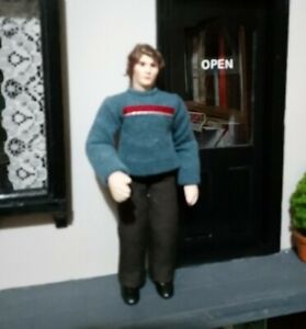 Dolls House Doll - modern man by Jill Nix of Woodside Dolls