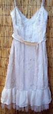 BCBG MAXAZRIA Cream Dress Sz 10 Embroidery Layered Tulle Underskirt NWT $388