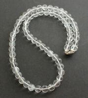 Bergkristall Kette Edelsteinkette Schmuck Collier Halskette 925 Silber ca. 50 cm