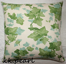 """Ivy Leaves Spring Cushion Cover Genuie Sanderson HEDERA Fabric Reversible 18"""""""