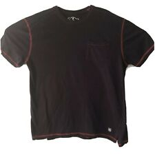 Nat Nast Mens T Shirt Large Navy Blue Red Pocket Cotton Casual Luxury Originals