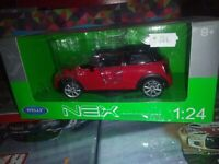 WELLY 1/24 NEW MINI HATCH RED NEUF EN BOITE