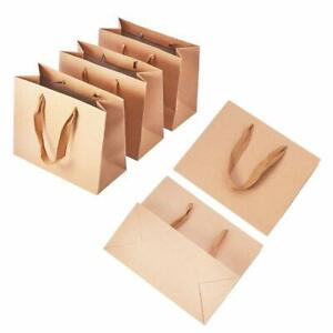 10Pcs Rectangle Kraft Paper Pouches Gift Bag with Nylon Thread for Party Wedding