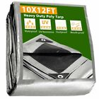 10x12 Heavy Duty Poly Tarp Canopy Tent Cover Shelter Reinforced Tarpaulin 10mil