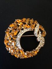 Beautiful Round Heart-shaped Style Crystal Jewelry Brooch Pin