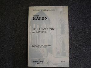 Joseph Haydn the seasons an oratorio   paperback