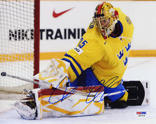 Jacob Markstrom SIGNED 8x10 Photo Olympic RookieGraph PSA/DNA AUTOGRAPHED