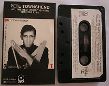 PETE TOWNSHEND ALL THE BEST COWBOYS HAVE CHINESE EYES RARE CASSETTE TAPE