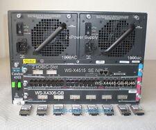 Cisco ws-c4503 CHASSIS Fan tray 2x psu ws-x4515 se IV 48 x Gigabit 8x GBIC-slot