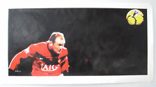 """Wayne Rooney hand painting on canvas 16""""x33"""" Large"""