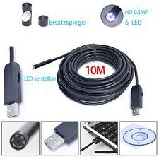 10 M Wasserdicht USB Endoskop Farb Rohrkamera LED Inspektionskamera Kanalkamera