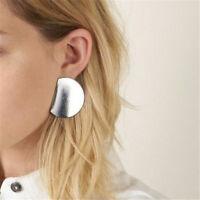 2020 Boho Women Simple Silver Geometric Circle Ear Stud Earrings Fashion Designs