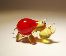 Blown Glass Art Animal Figurine Small Red and Honey Rhinoceros Rhino
