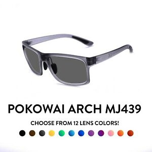 Maui Jim Pokowai Arch MJ439 Sunglasses - Light Grey Frame
