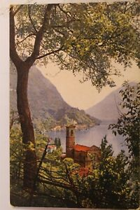 Italy Lago Di Lugano Albogasio Postcard Old Vintage Card View Standard Souvenir