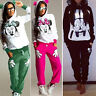 Damen Mickey Minnie Mouse Trainingsanzug Kapuzenpullover Sweatshirt Hose Jogging