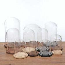 Clear Glass Dome Display Cover Garden Landscape Bottle Succulent Terrarium