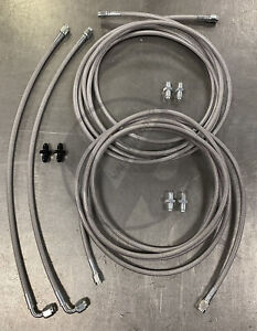 Stainless Rear Brake Line Replacement Kit For 96-00 Honda Civic w/rear drum