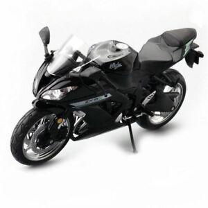1:12 Kawasaki Ninja ZX-6R Motorcycle Model Plastic Motorbike Boys Gift Black