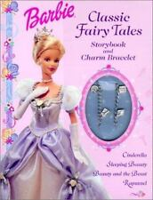 BARBIE CLASSIC FAIRY TALES STORYBOOK & CHARM BRACELET-NEW HARDCOVER
