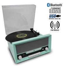 Retro 60's Vinyl LP Record Player Turntable BLUETOOTH CD USB RADIO with Speakers