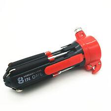 Car Safety Hammer Lifesaving Torch Screwdrivers Tool seat belt cutter Flashlight
