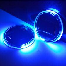 2PCS Solar Charging Cup Pad Car accessories LED Light Cover Interior Decoration