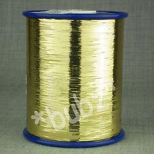 Oro no admitido plana Lurex Brillo Metálico Hilo 300g Carrete Tejer Hilado