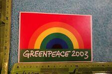 Alter Aufkleber Tier- Umwelt- Naturschutz GREENPEACE 2003