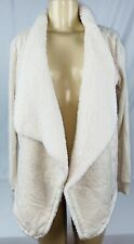 *Used* Hollister Womens Size Small Long Sleeve Warm Wooly Sweater Jacket Cream