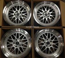 "18"" ESR SR01 18x8.5 5X100 +30 Wheels For Dodge Neon SRT4 Set Of 4 Silver Rims"