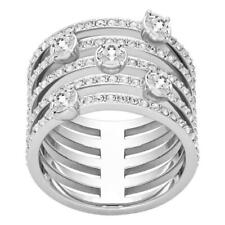 Swarovski 5184243 Creativity Ring Crystal Rhodium Size 52 Silver